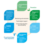 Phases of amputee management diagram