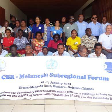 Delegates at the sub regional CBR forum in the Solomon Islands