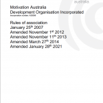 MA Association Rules Amended January 28th 2021 cover page