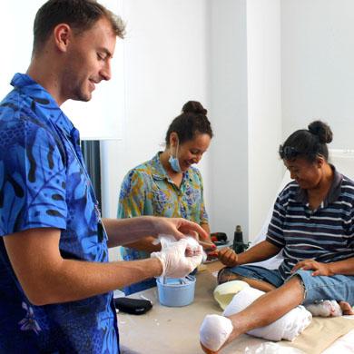 Diabetic foot clinic team