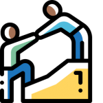 Icon for helping people to reach the same position.